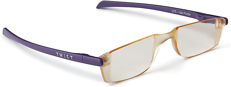 Twist ONE Type: Flat Folding Computer Reading Glasses (+3.0, Lilac Purple)