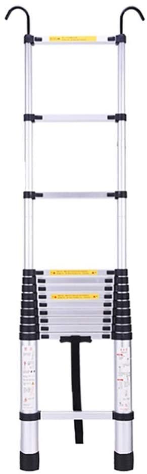 LADDERS Ladder Telescopic Ladders,6.9Ft Heavy Duty Atelescopic Extension Ladder, Multi-Purpose Engineering Telescoping Ladder for Cargo Loft, 330Lbs Capacity