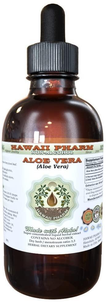 Aloe Vera Alcohol-Free Liquid Extract, Organic Aloe Vera (Aloe Vera) Dried Leaf Glycerite 2 oz