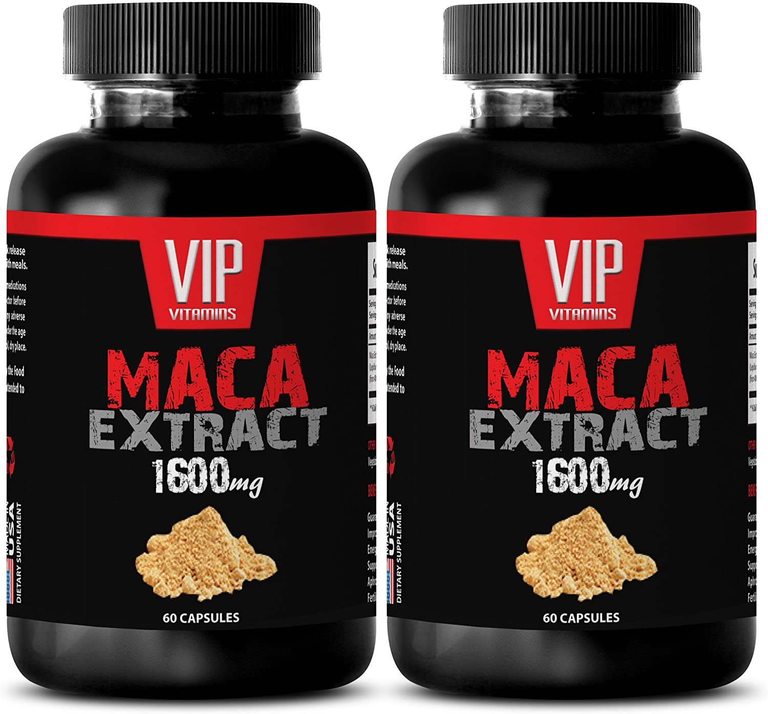 Female Sex Enhancer - MACA Extract 1600MG - maca Fertility - 2 Bottles (120 Capsules)