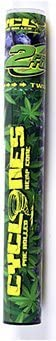 Cyclones Pre Rolled Hemp Wrap Cone with Tip and Reuseable Twist Top Tube - 2 Cones Per Tube (Blueberry)