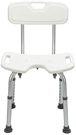 EtchedYelo Adjustable Height Bathtub Shower Chair Portable Shower Bench Chair Bathtub Stool Seat with Removable Back for Handicap, Disabled, Seniors and Elderly