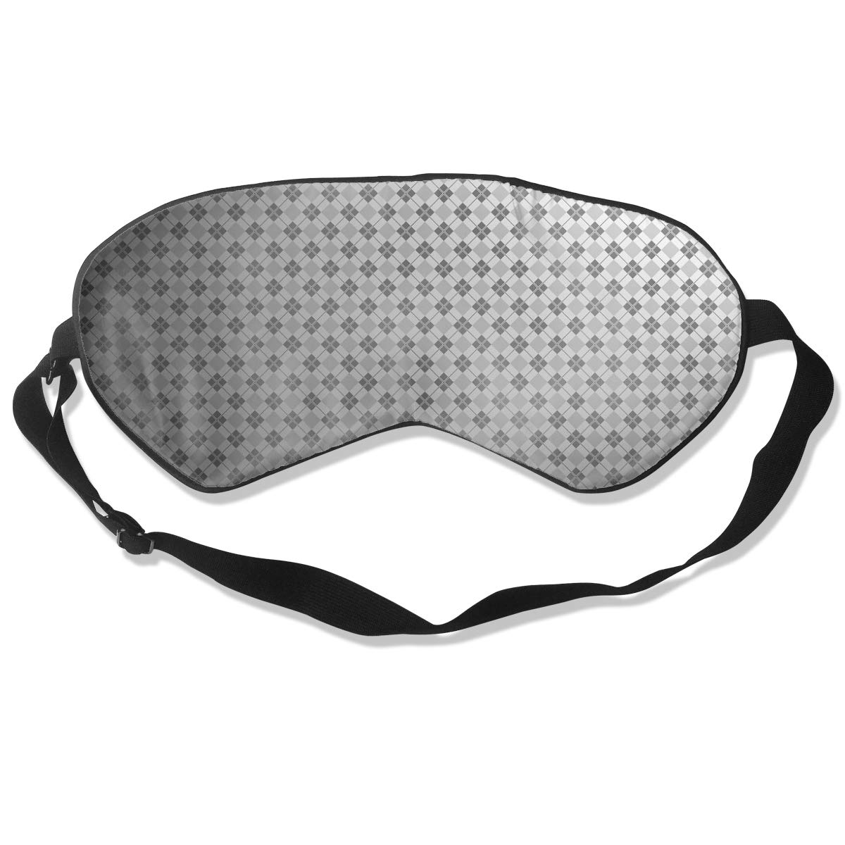 100% Silk Sleep Eye Mask, Square Pattern Night Sleep Mask, Meditation With Adjustable Straps, Blocks Light, Suitable For Sleeping Travel Work Naps