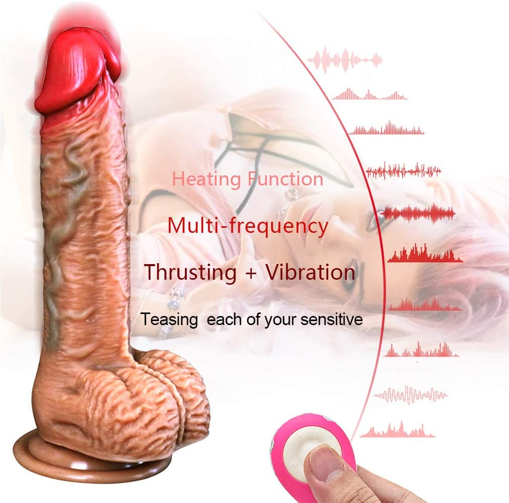 Didlo Thrusting Machine Waterproof Toy,Perfect Adult Dicks Multi Thrusting Modes and Strong Suction Cup Hands Free for Womens Realistic Silicone Dido Toys 100% Waterproof Silica Gel Material Gift