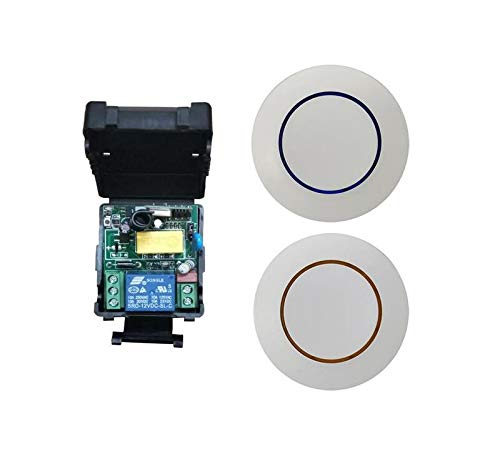 Calvas new AC 220 v 1 ch wireless remote control switch 1 receiver transmitter lighting room wall paste rf switch 433mhz - (Color: 315mhz)