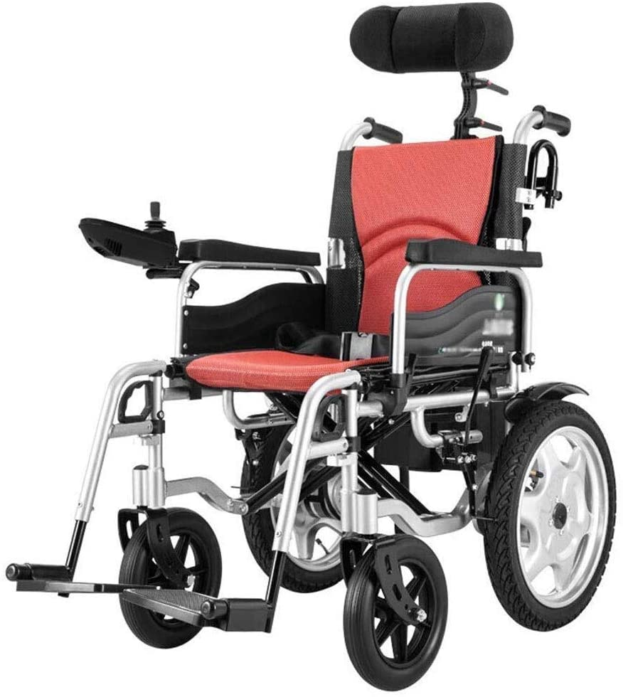 CHENXIU Electric Wheelchairs, Heavy Duty Electric Wheelchair, Foldable and Lightweight Powered Wheelchair, 360° Joystick, Wheeled Scooter Sitting Reclining