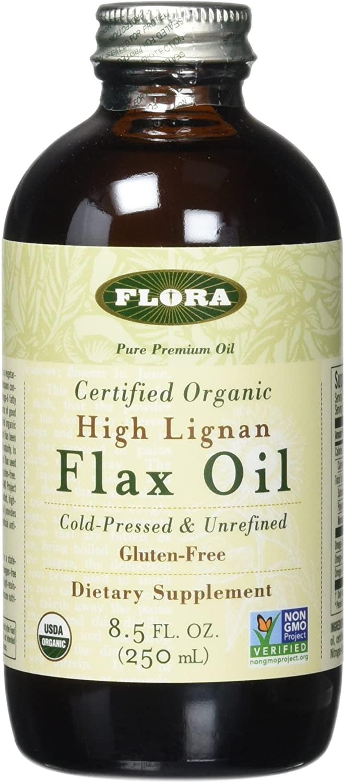 Flora High Lignan Flax Oil Certified Organic, 8.50-Ounce