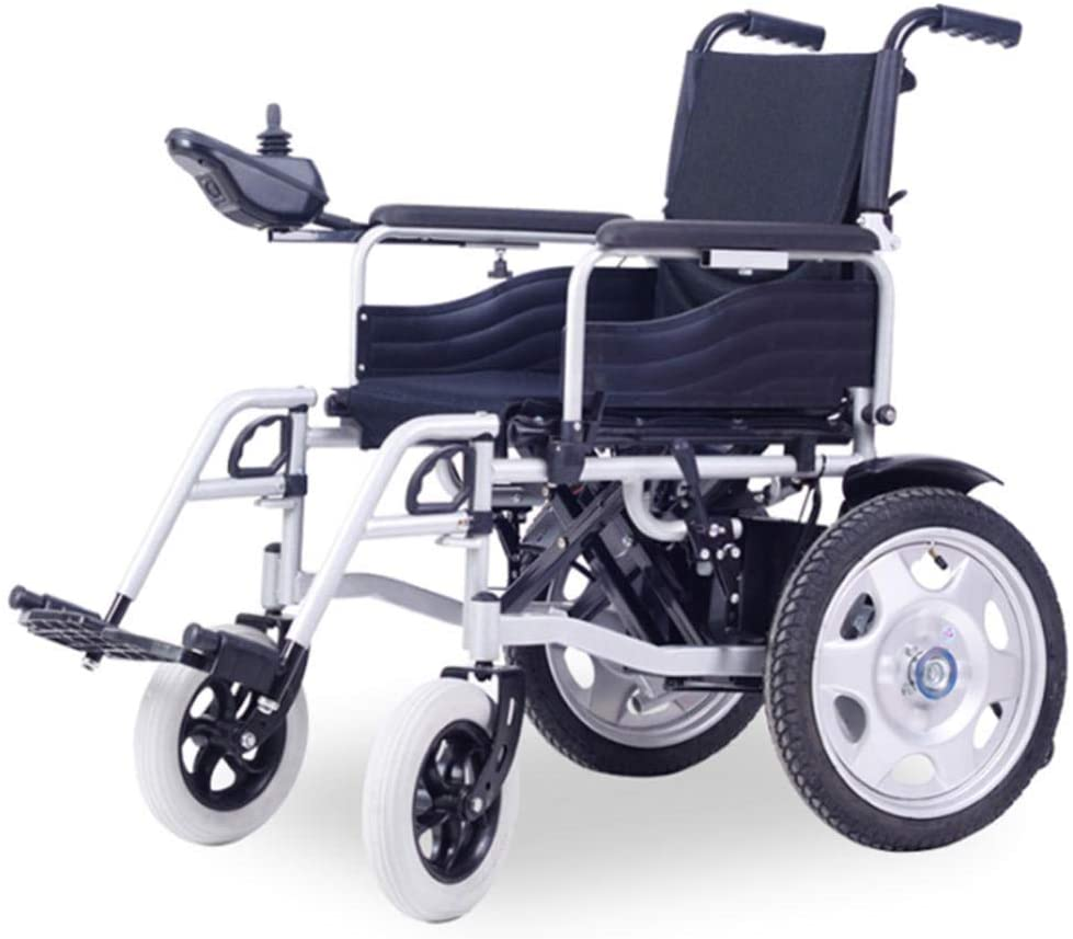 BXZ Disabled Wheelchair Elderly Electric Wheelchair Front-Wheel Drive Power Chair Electric Wheelchairs Old Scooter Foldable Disabled Battery Bicycle Automatic Intelligent BlackOne Size