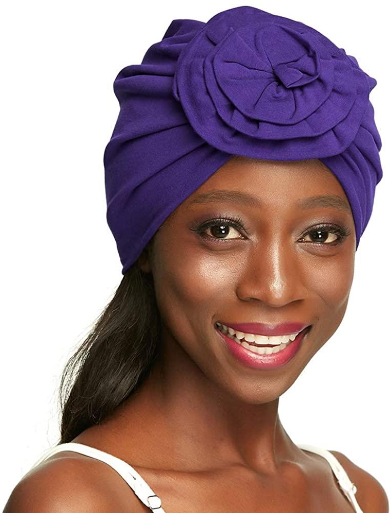 Turban Hair Wrap Stylish Headwear –Outer Cotton, Inside Silk Satin