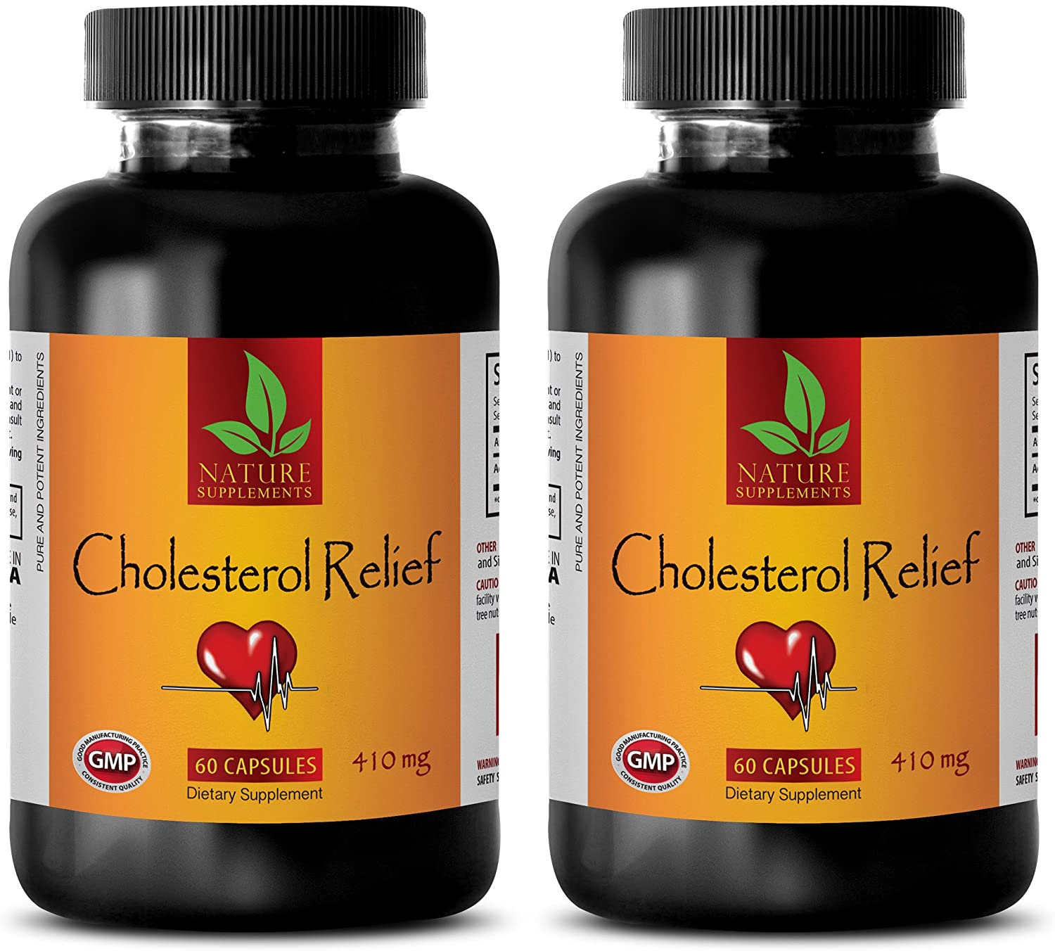 antioxidant Blend Supplements - Cholesterol Relief - Cholesterol Ease - 2 Bottles (120 Capsules)