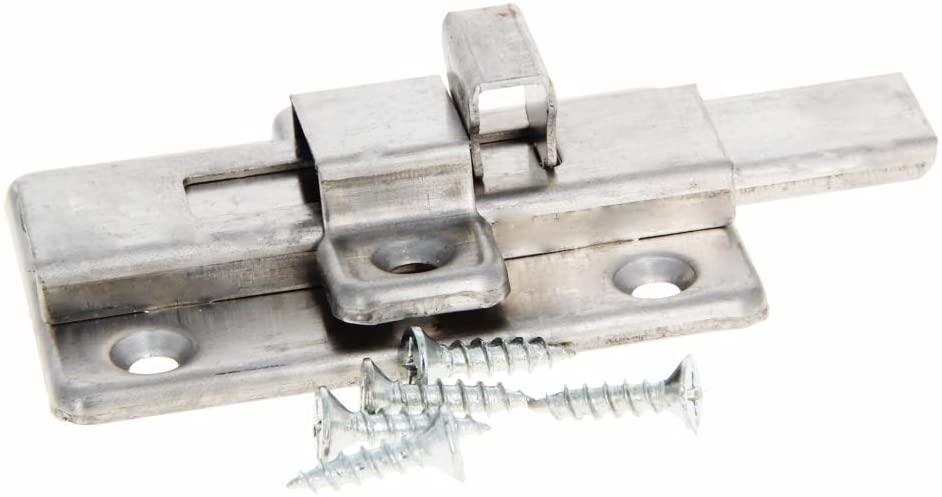 MroMax 4Pcs Spring Loaded Press Button Door Gates Security Latch Sliding Lock Barrel Bolt Manual Rebound Stainless Steel 65x45x20mm