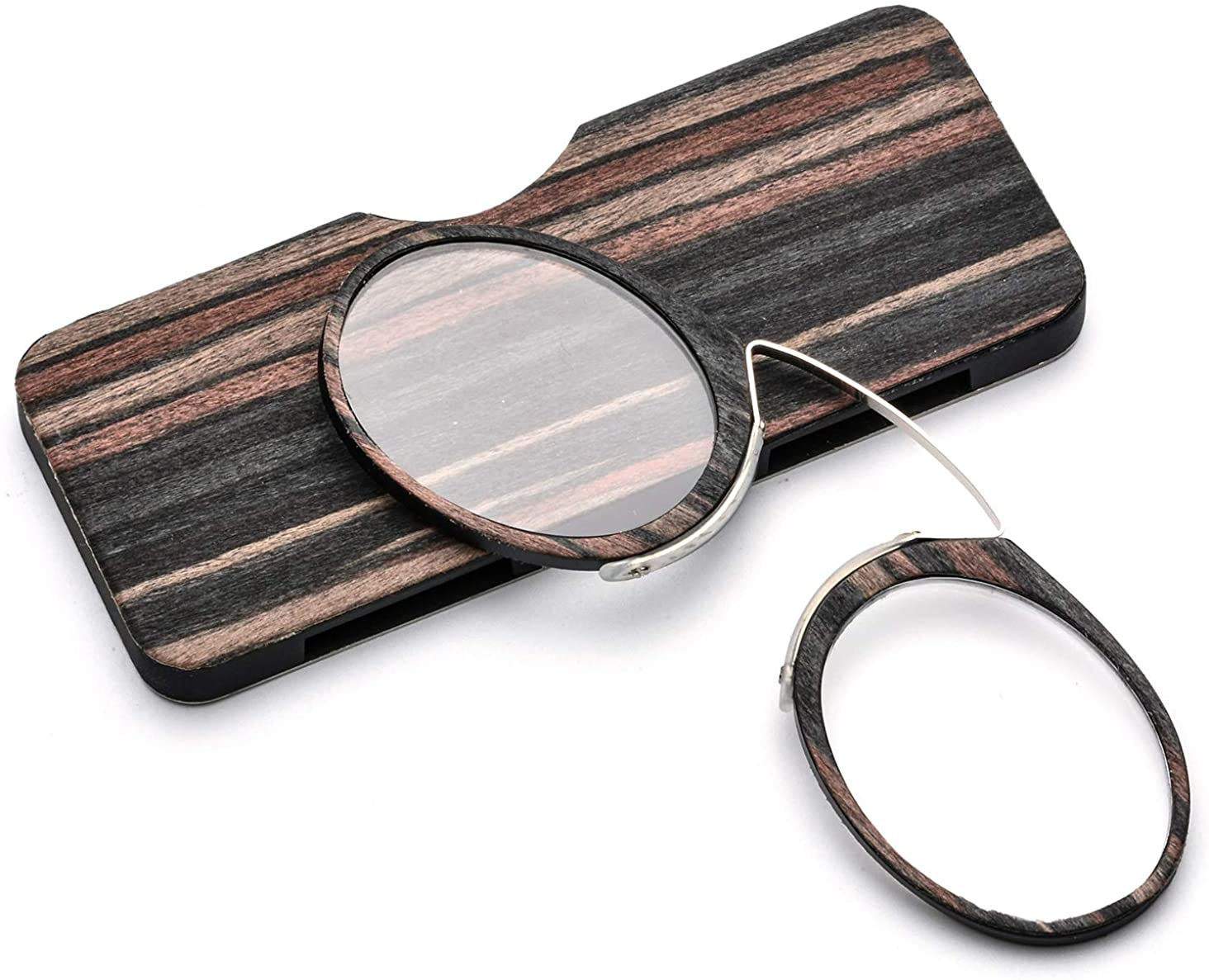 Pince Nez Style Clamp Nose Resting Pinching Reading Glasses with No Temple Arms Readers for Men and Women FJB02
