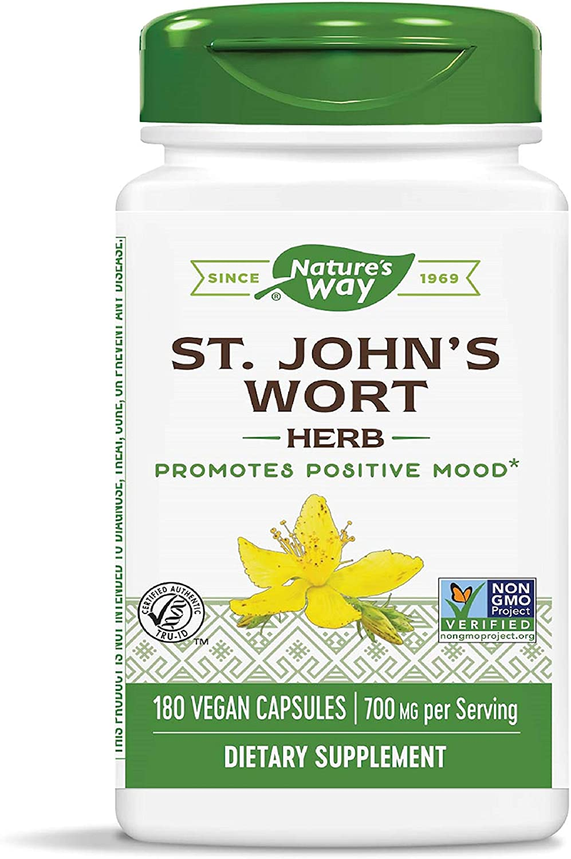 Nature's Way Premium Herbal St. John's Wort Herb, 700 mg per serving, 180 Capsules