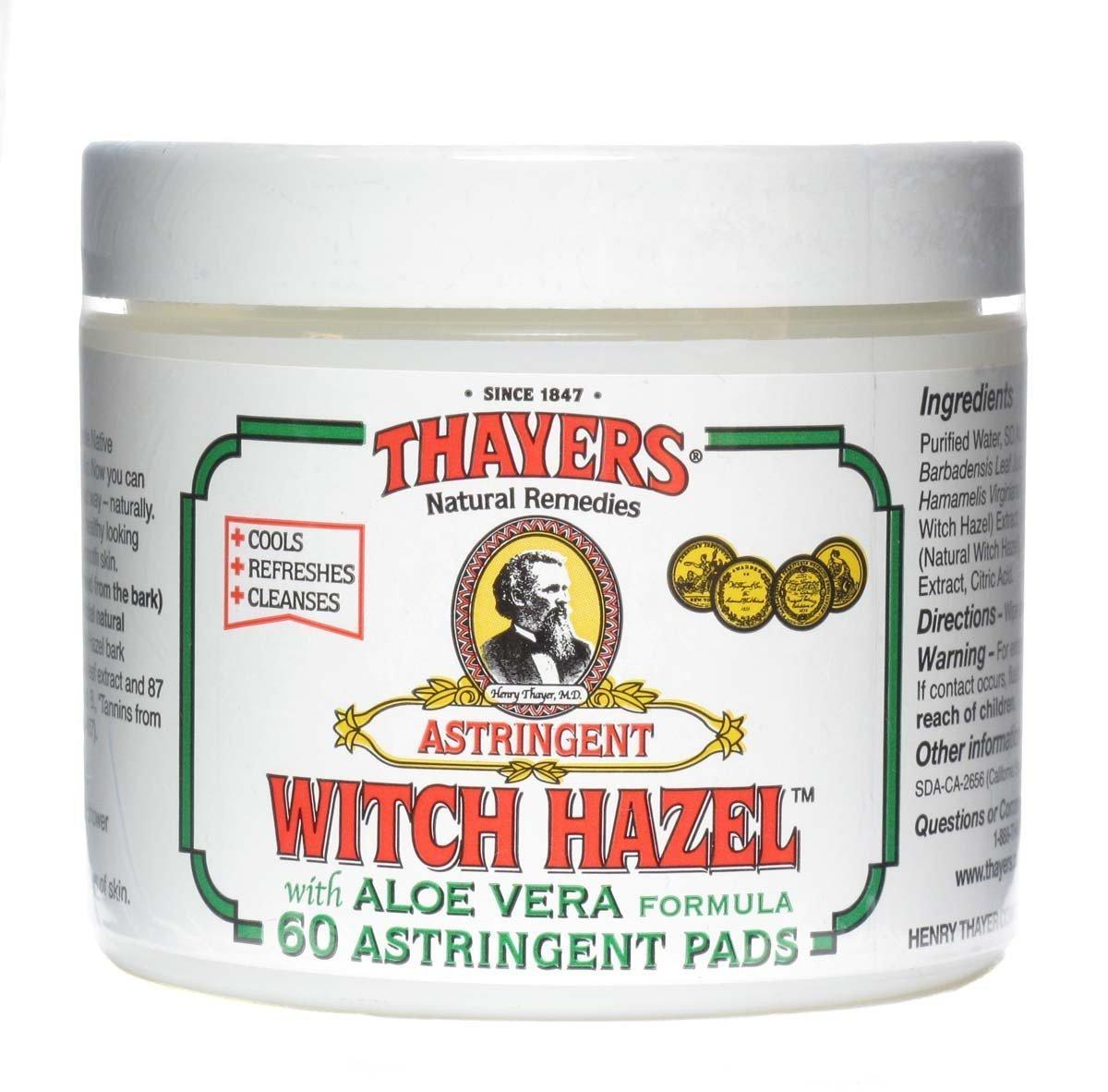 Thayer Witch Hazel Pads Orgnl