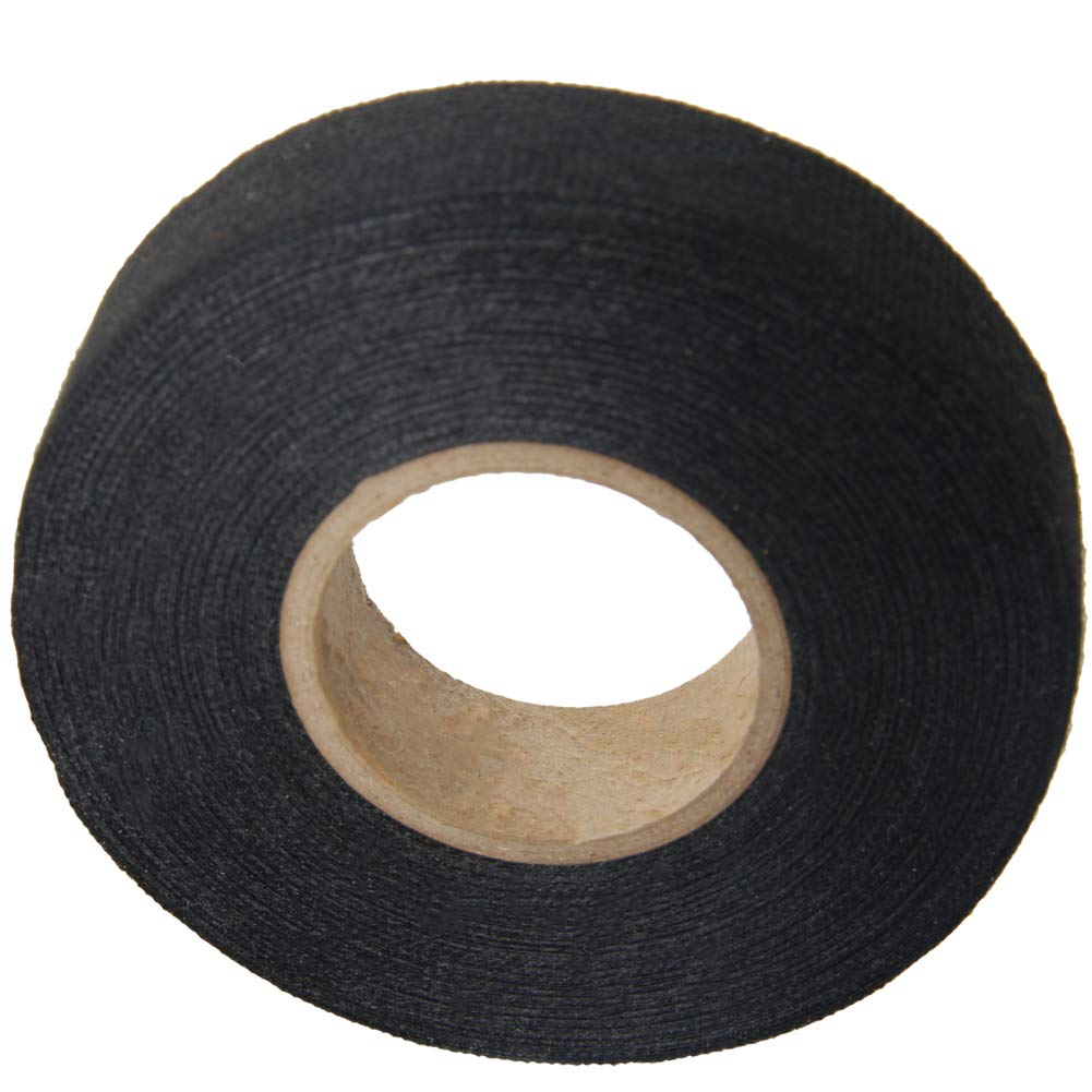 Fielect Insulating Tape for Automotive Electrical Wire,PVC Electrical Tape, Single Sided,19mm Width, 15m Long,Black JR-305 1Pcs