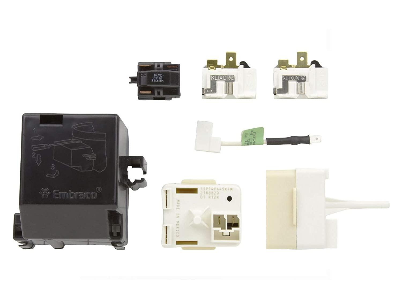 ClimaTek Upgraded Start Overload Relay Compressor fits KitchenAid Roper 2220474 2220475 2220476