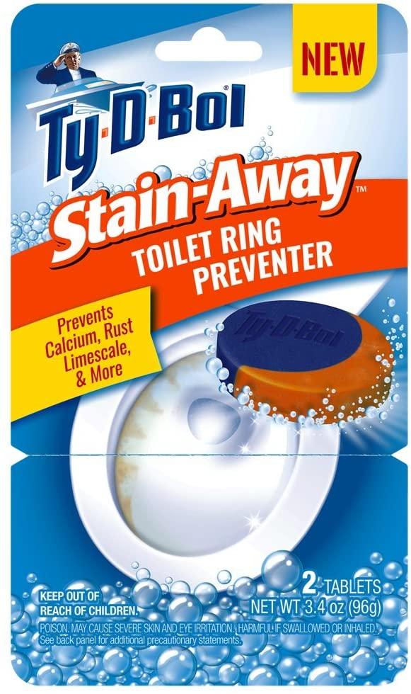 Ty-D-Bol Stain Away Toilet Ring Preventer Tablet (12)
