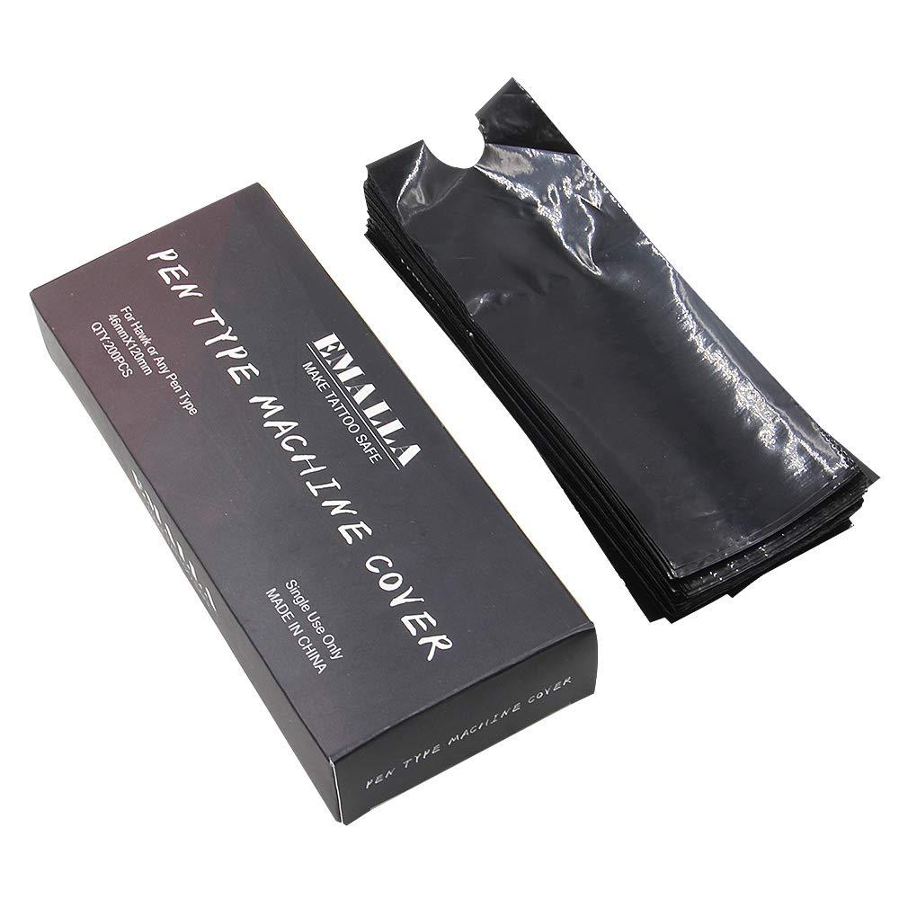 SOTICA 200pcs Tattoo Pen Machine Covers Disposable Cartridge Tattoo Machine Sleeves Bags Pen Type Covers Bag Tattoo Grip Sleeve for Tattoo Kits Tattoo Supplies Tattoo Machine Gun Accessories