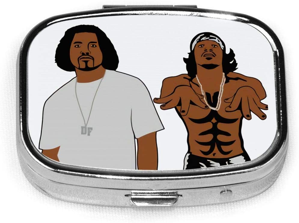 Outkast Stankonia Custom Personalized Square Pill Box.Pill Box Button Open-Easy to Open Design; Lightweight and Portable-A Good Travel Accessory.