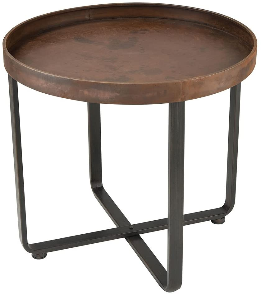 Sterling Home Copperhead accent table, Brown