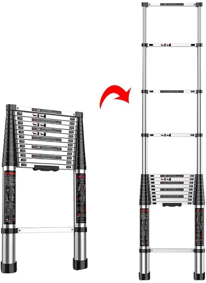 Ladders Ladder Telescopic Ladders,Multi Purpose Atelescopic Straight Ladder, Folding Engineering Telescoping Extendable Ladder for Loft, 330Lbs Capacity,5.5M/18Ft