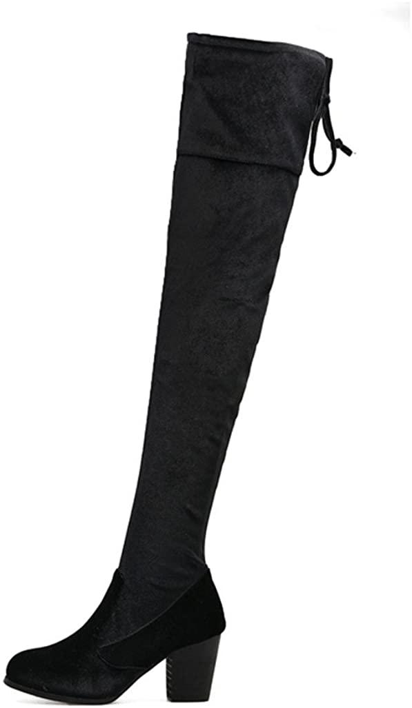 no branded Women High Heel Pump Platform Knee High Boots,US4.5-9.5(EUR35-40) A905