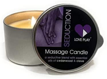 Seduction Massage Candle a Romantic Blend with Essential Oils, 6.76 Fl Oz