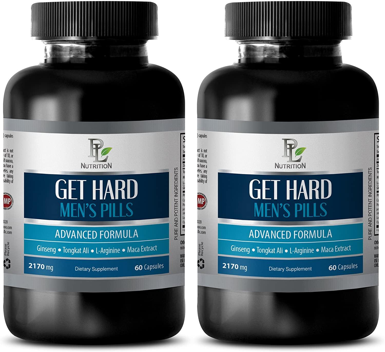 Testosterone Booster for Men Sexual Enhancement - GET Hard - Mens Pills - Advanced Formula - l-arginine bulksupplements - 2 Bottles (120 Capsules)