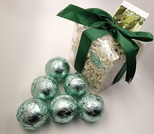 Spa Pure DRAGONFLY MOON Gift - 6 Large Bath Bombs in Gift Box made with Shea, Mango & Cocoa Butter, Ultra Moisturizing (14 Oz) Great for Dry Skin, All Skin Types
