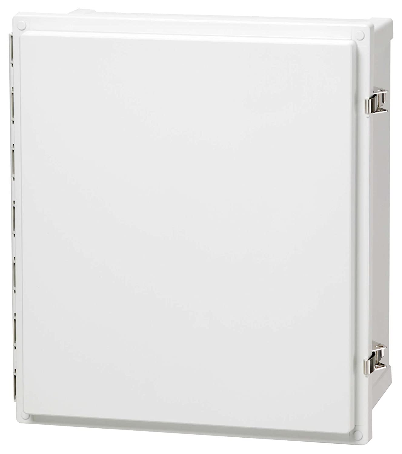 Fibox Enclosures AR1086CHSSL UL Listed Nema 4X Polycarbonate Enclosure with Hinged Opaque Screw Cover and Stainless Steel Lockable Latch, 6 Height, 8 Width, 10 Length