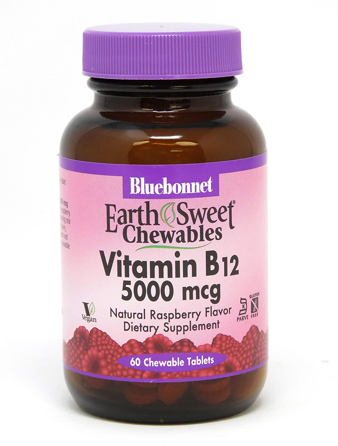 Bluebonnet Nutrition Earthsweet Chewable Vitamin B-12 5000 Mcg, 60 Count