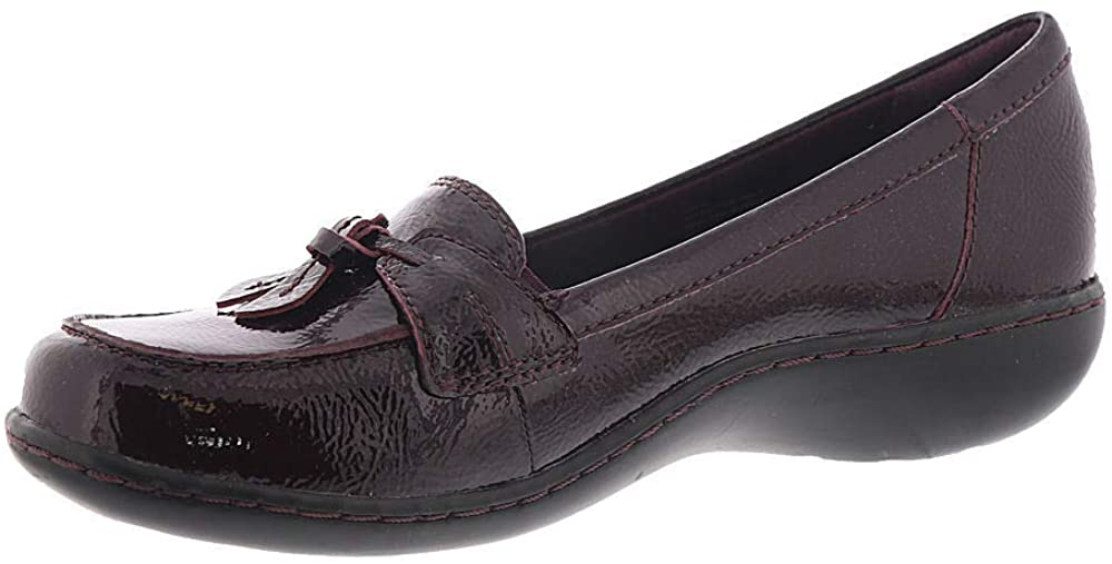 Clarks Womens Ashland Bubble Leather Closed Toe