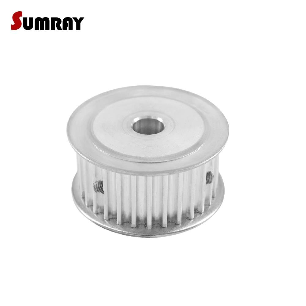 5M Timing Belt Pulley HTD 5M-30T Inner Bore 10mm Gear Pulley 21mm Width 30Teeth Belt Pulley for 3D Printer Machines