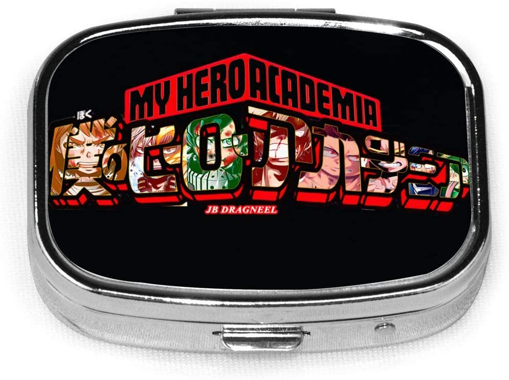 Wehoiweh My Hero Academia 2.2x1.6x0.7 Inch Mini Medicine Box, Full Size Printing is Easy to Carry