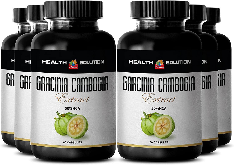 Garcinia cambogia Pills - Garcinia CAMBOGIA - Support Digestion (6 Bottles)