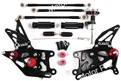 Frames & Fittings Adjustable Footrests for Honda CBR600RR 2007 2008 Motorcycle Accessories Foot Rest Peg Rearsets CBR 600 RR CBR600 600RR Black - (Color: Black)