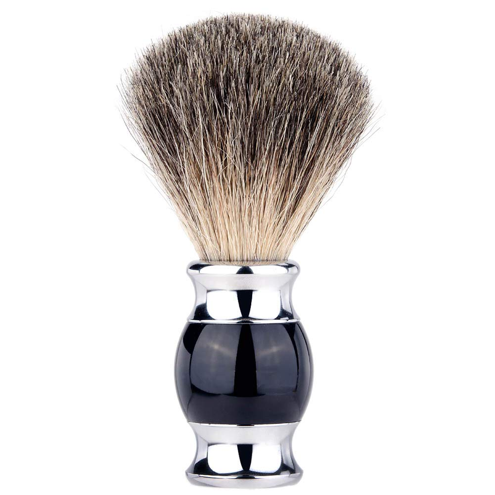 Pure Badger Shaving Brush Premium Shaving Brush mens shave brush Black handle