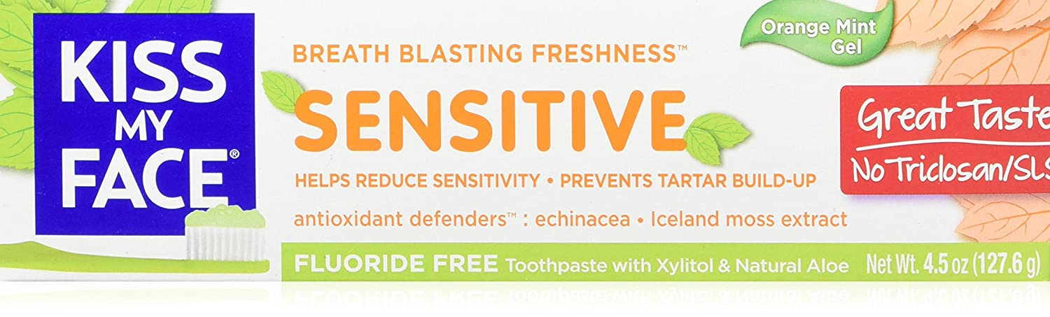 Kiss My Face Fluoride Free Sensitive Toothpaste 4.5 oz (Pack of 2)