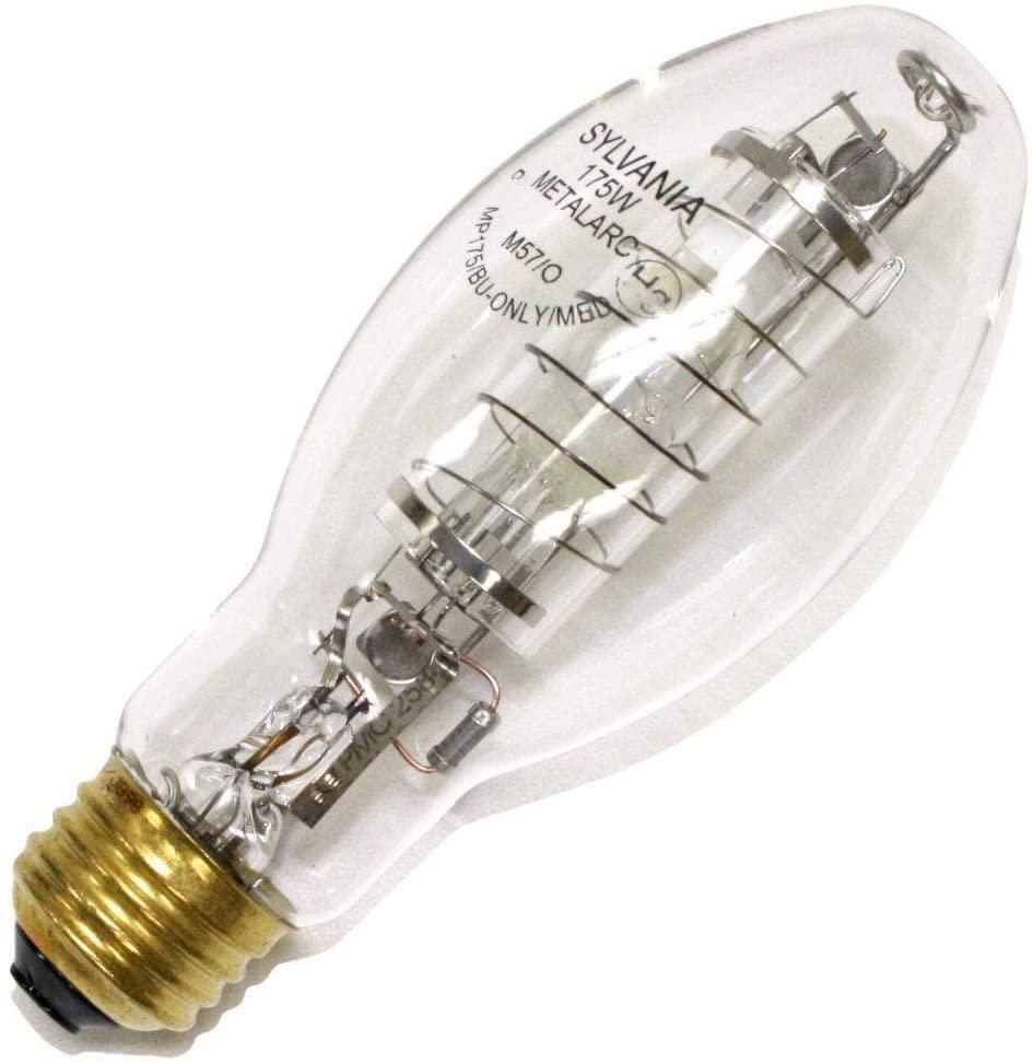 SYLVANIA 64733 - 175 Watt - ED17 - METALARC PRO-TECH - Metal Halide - Protected Arc Tube - 3600K - Medium Base - ANSI M75/O - Base Up Burn - MP175/BU-ONLY/MED