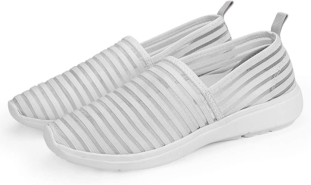 StarttWin Women Sneakers Summer Casual Breathable Female Loafers Mesh Slip on Soft Flat Ladies Shoes