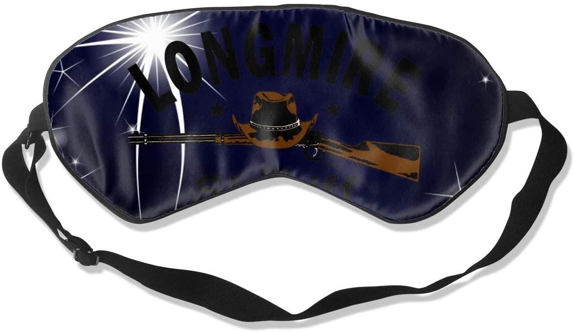 WushXiao Luanelson Longmire for Sheriff Fashion Personalized Sleep Eye Mask Soft Comfortable with Adjustable Head Strap Light Blocking Eye Cover