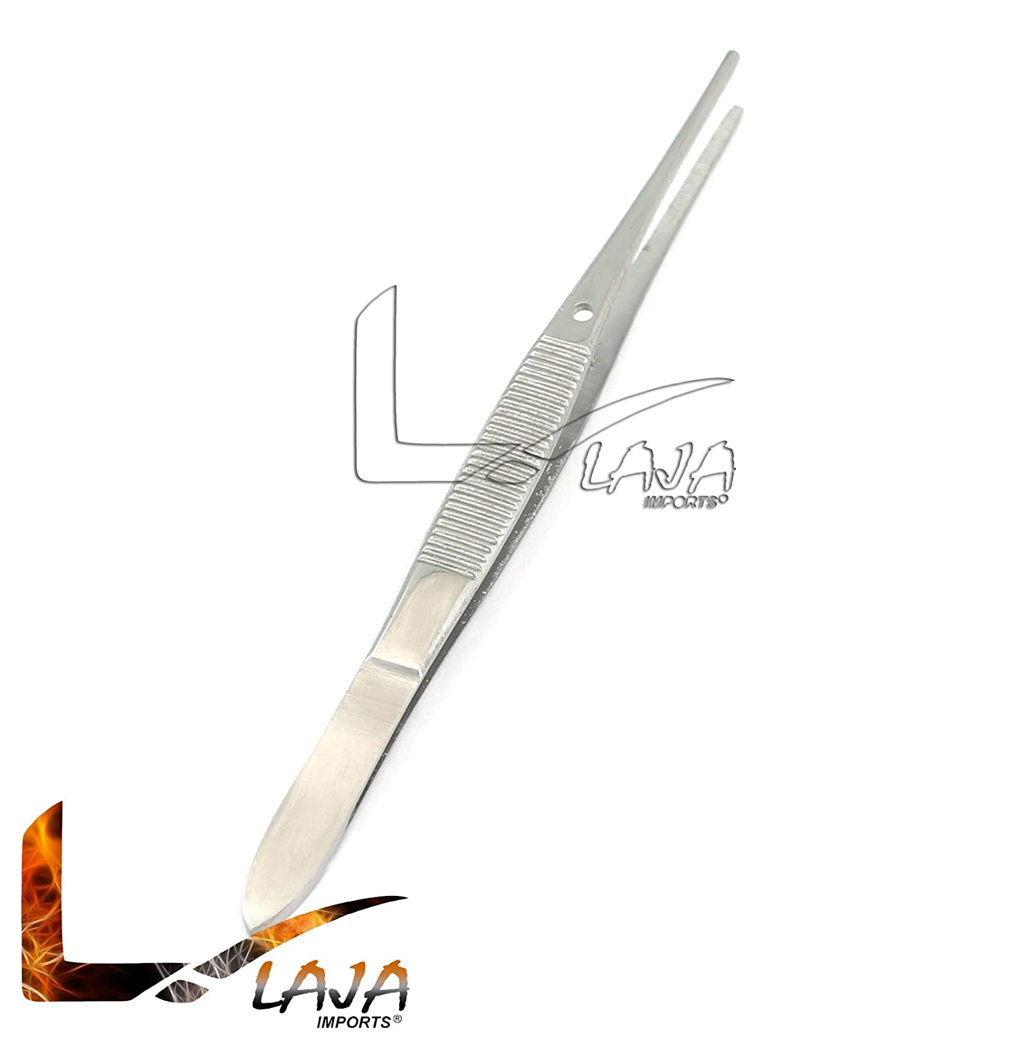 LAJA IMPORTS Industrial Tweezers Forceps Stainless Steel for Jewelry-Making Nail Laboratory Work 3.5 INCHES Lenght