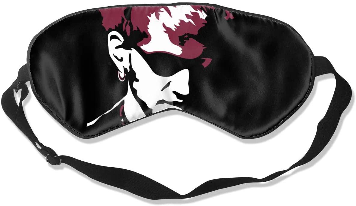 WushXiao Luanelson Layne Staley Fashion Personalized Sleep Eye Mask Soft Comfortable with Adjustable Head Strap Light Blocking Eye Cover