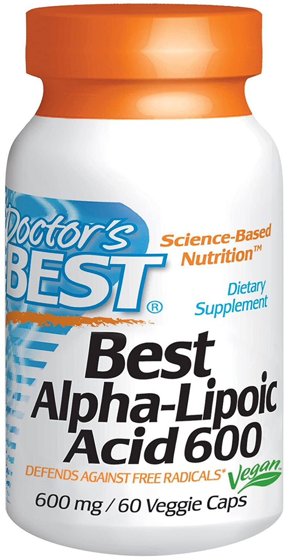 Doctor's Best, Best Alpha-Lipoic Acid, 600 mg, 60 Veggie Caps