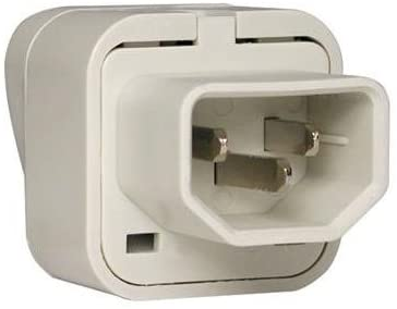 tripp lite uniplugint uniplugint iec-320 c13 outlet adapter for intl plugs fr ger uk