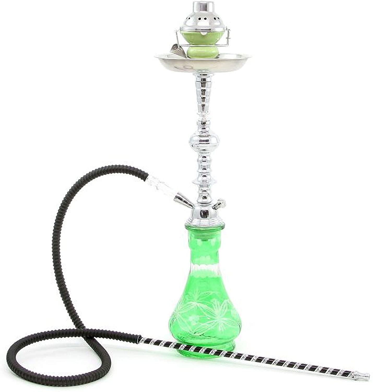 Medium Black 1 Hose Hookah no Tobacco no Nicotine + Wind Cover Shisha Pipe Set narghile narguile Chicha
