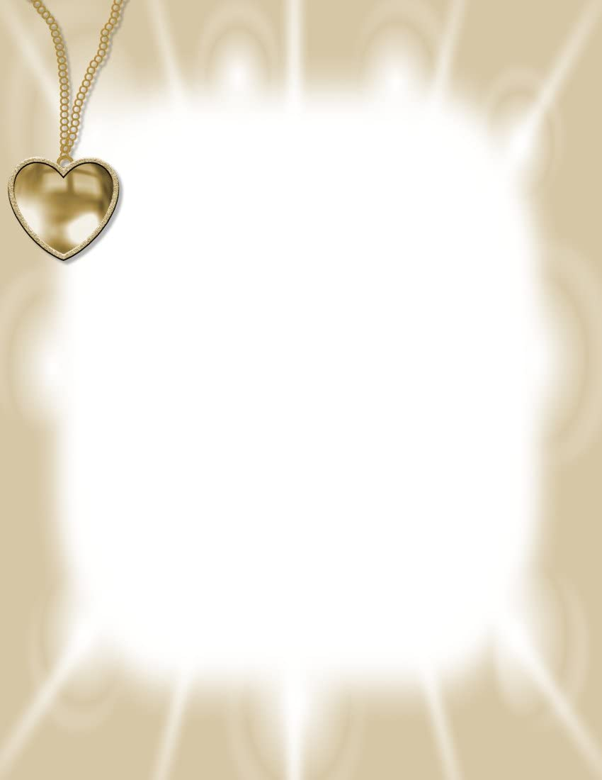 Jewelry Heart Pendant Stationery Printer Paper 51 Sheets