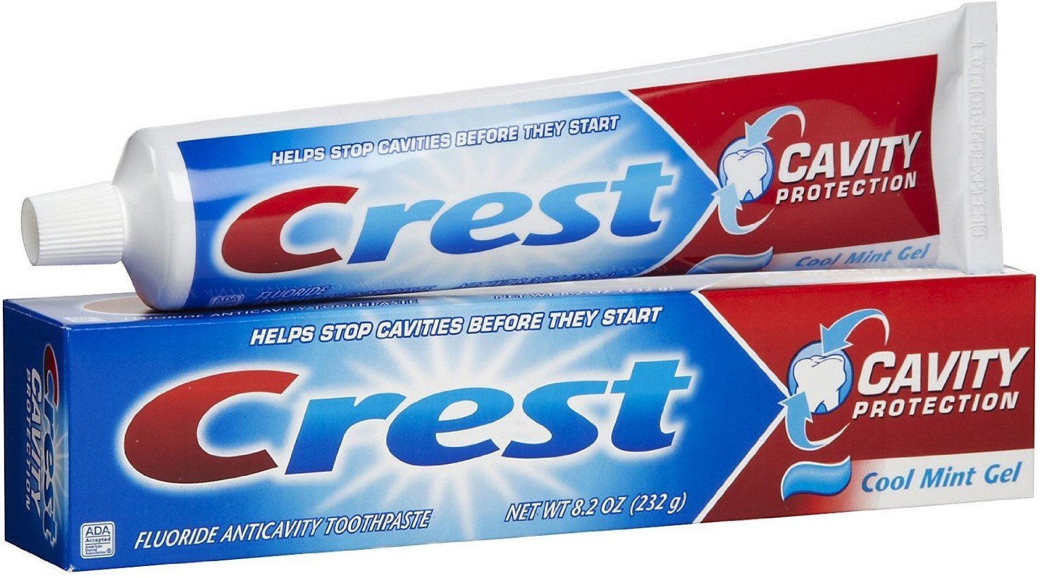 Crest Cavity Protection Toothpaste Gel Cool Mint 8.20 oz (Pack of 12)