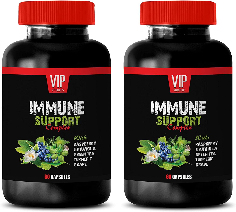 Anti inflammatory Herbal Supplement - Immune Support Complex - Turmeric Curcumin Extract Capsules - 2 Bottles 120 Capsules