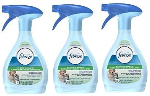 3 Pk, Febreze Fabric Refresher Pet Odor Eliminator Air Freshener (27 Fl Oz)
